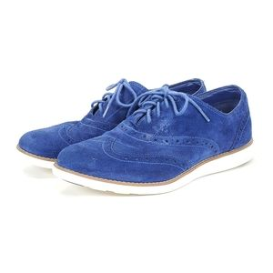 Cole Haan Suede Wingtip Grand OS Oxford Shoes